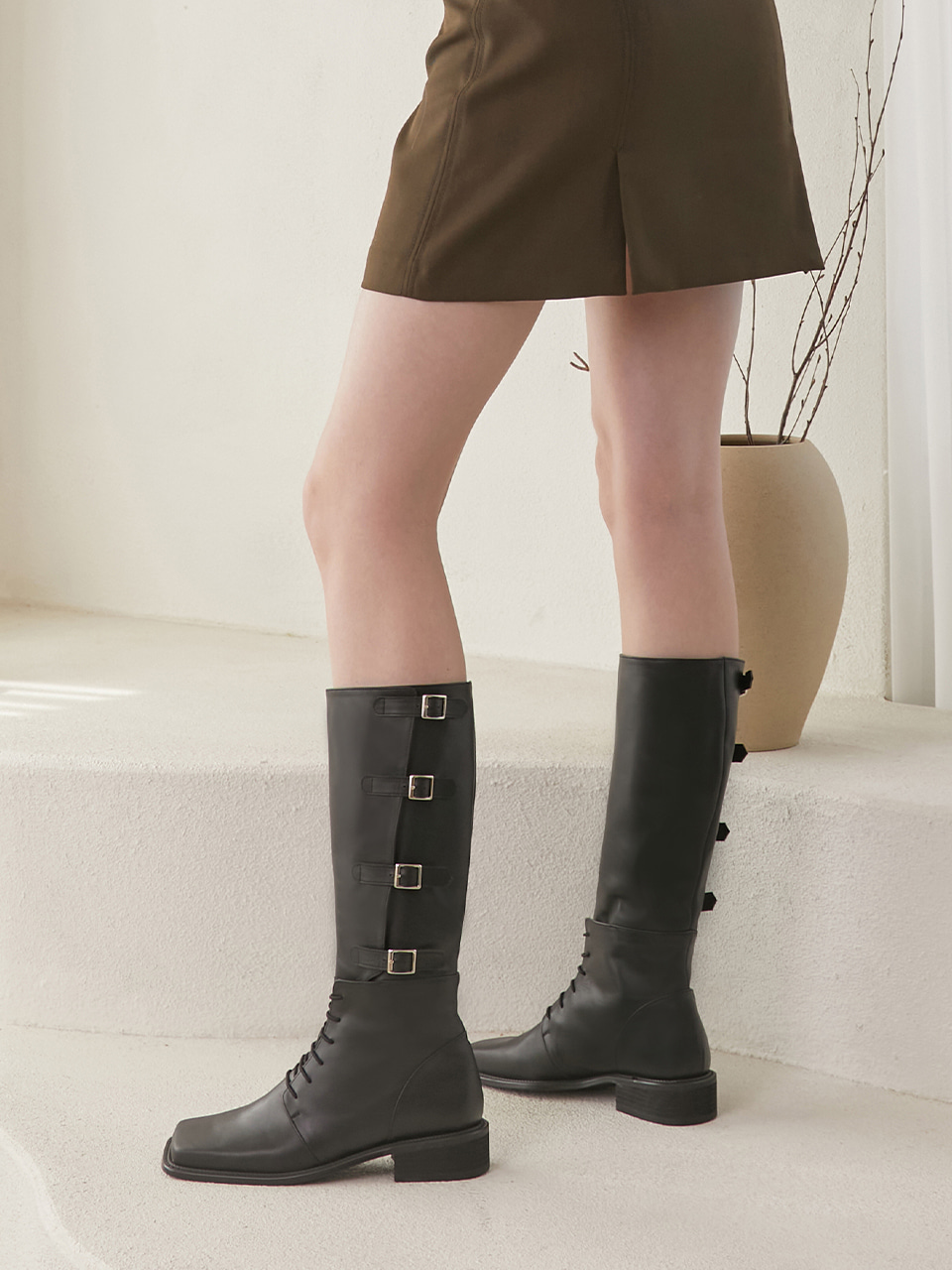 BESS LONG BOOTS(Black)